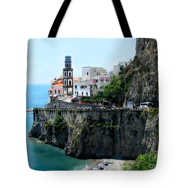 Leaving Atrani  Italy Tote Bag