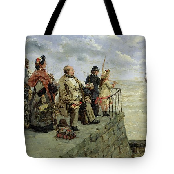 Leaving For Jersey  Tote Bag by Guillaume Romain Fouace