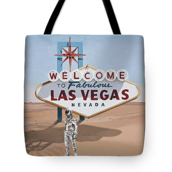 Leaving Las Vegas Tote Bag by Scott Listfield