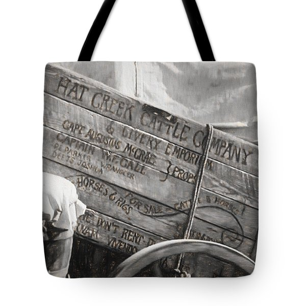 Leaving Lonesome Dove Tote Bag
