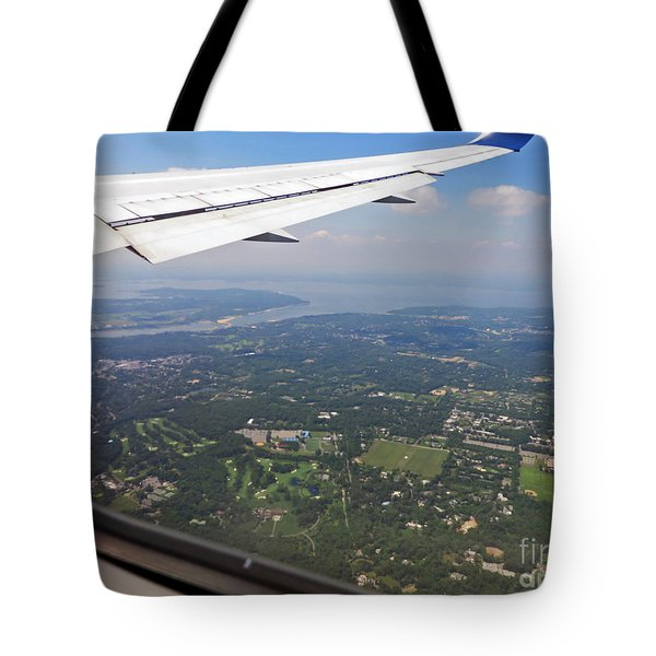 Leaving New York Tote Bag by Cindy Murphy - NightVisions