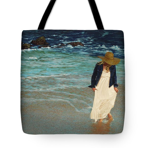 Leaving The Beach Tote Bag