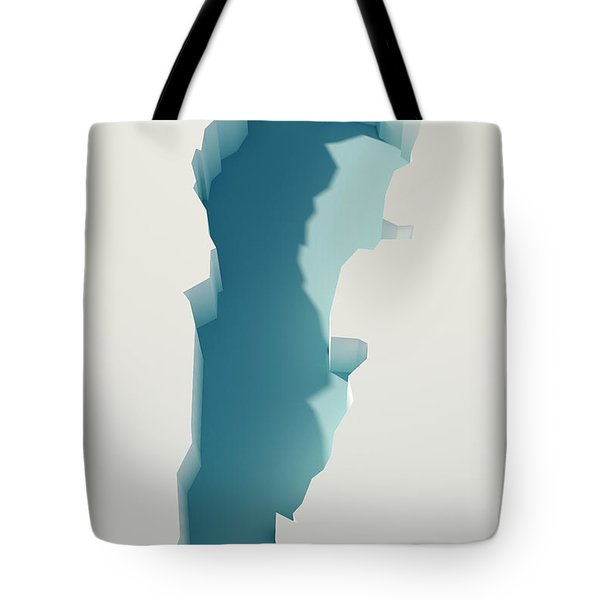 Lebanon Simple Intrusion Map 3d Render Tote Bag