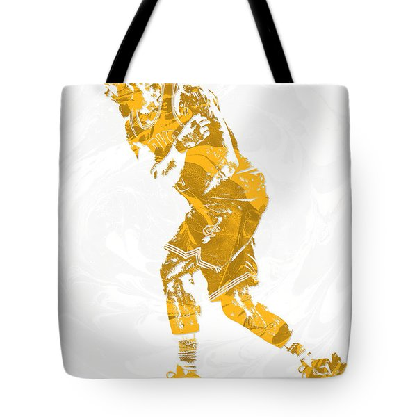 Lebron James Cleveland Cavaliers Pixel Art 13 Tote Bag