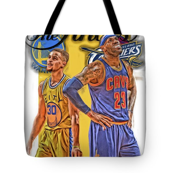 Lebron James Stephen Curry The Finals Tote Bag by Joe Hamilton