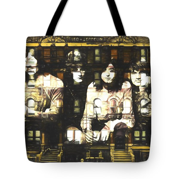 Led Zeppelin Physical Graffiti Tote Bag by Dan Sproul