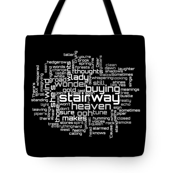 Led Zeppelin - Stairway To Heaven Lyrical Cloud Tote Bag