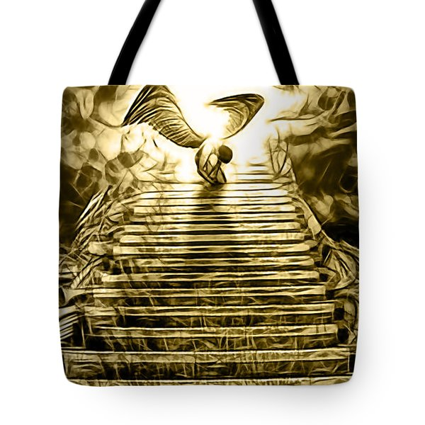 Led Zeppelin Stairway To Heaven Tote Bag by Marvin Blaine