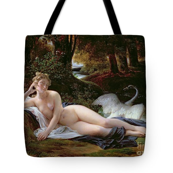 Leda And The Swan Tote Bag by Francois Edouard Picot