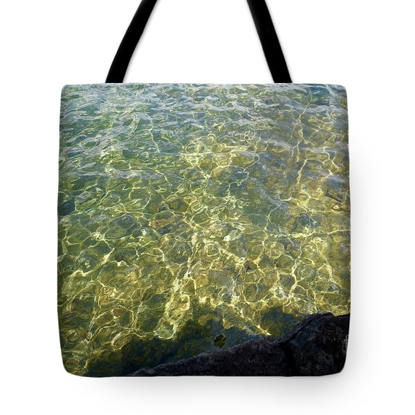 Ledge View Ripples Tote Bag by Sandra Updyke