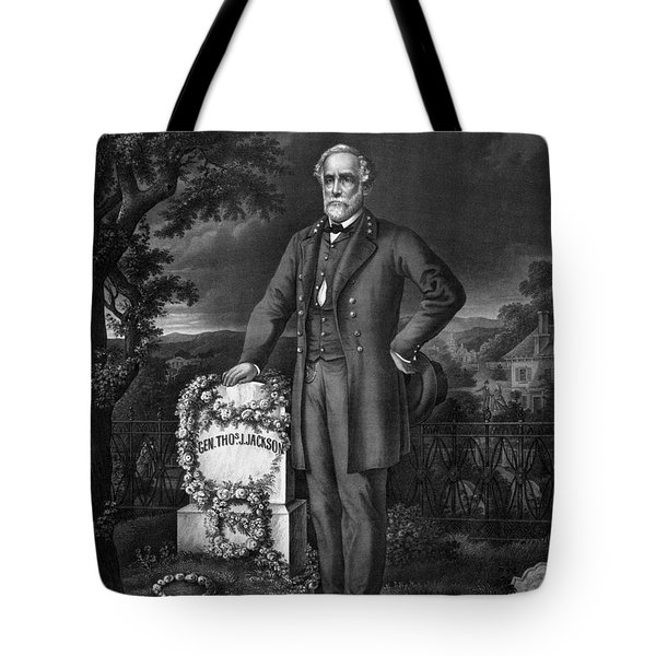Lee Visits The Grave Of Stonewall Jackson Tote Bag