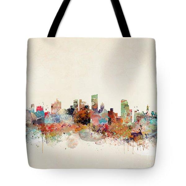 Leeds City Skyline Tote Bag