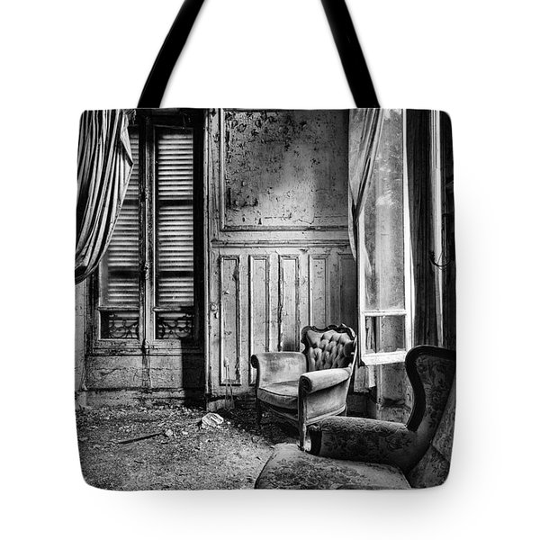 Left Behind Sofa - Abandoned Bilding Tote Bag