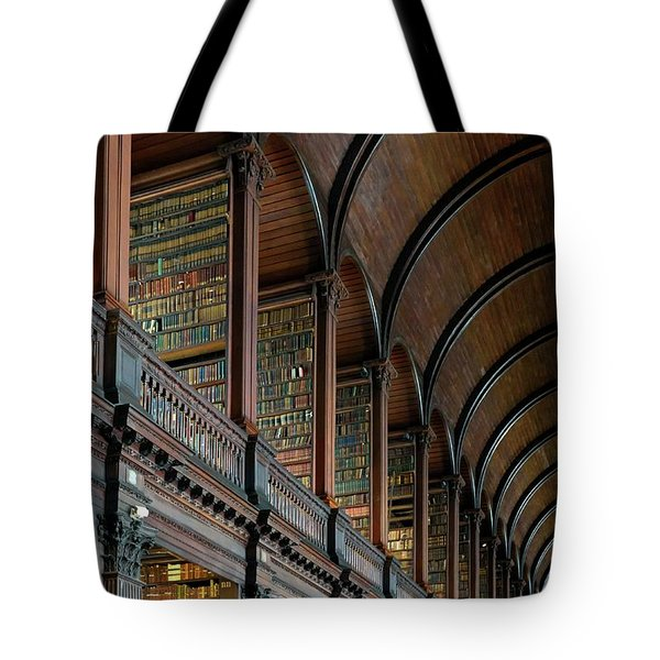 Left Wing Of The Long Room Tote Bag