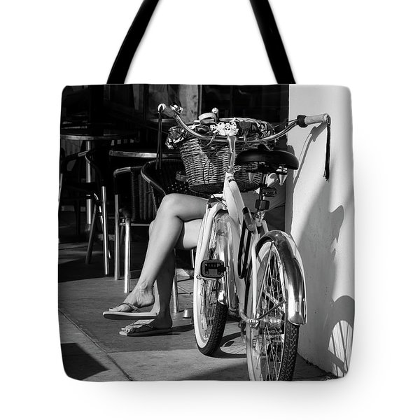 Leg Power - B And W Tote Bag