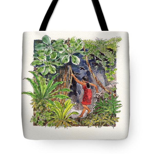 Legend Of The Kopeka Cave Tote Bag