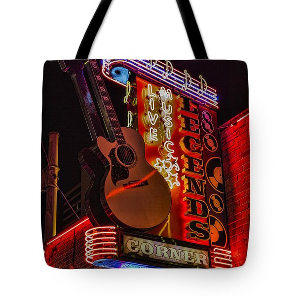 Legends Corner Nashville Tote Bag