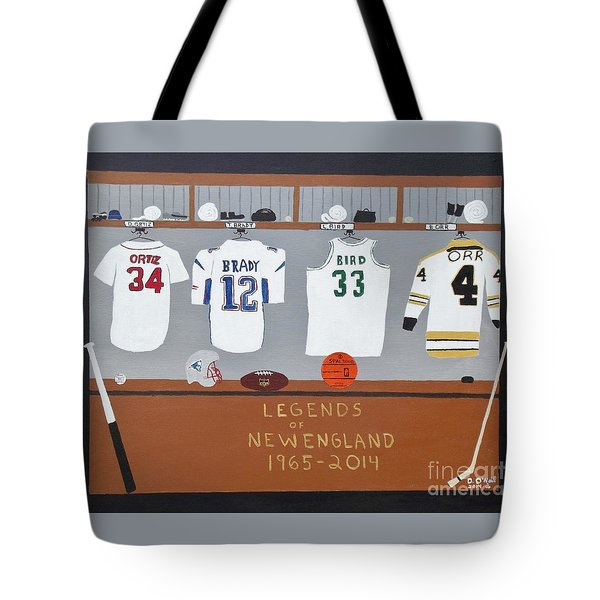 Legends Of New England Tote Bag