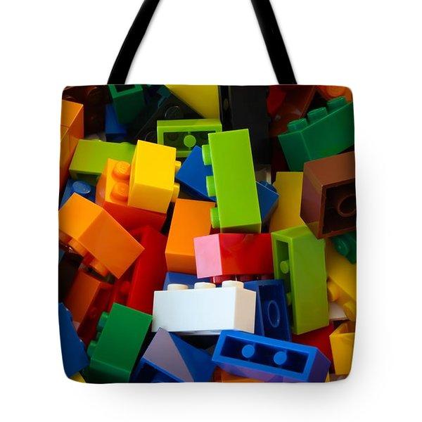 Lego Bricks Tote Bag by David Warrington