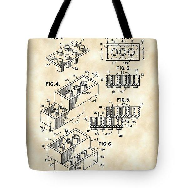 Lego Patent 1958 - Vintage Tote Bag