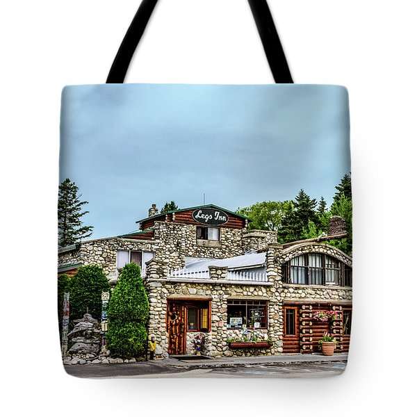 Tote Bag featuring the photograph Legs Inn Of Cross Village by Bill Gallagher