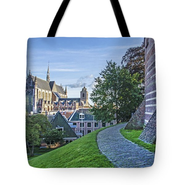 Leiden, The Church And The Castle Tote Bag