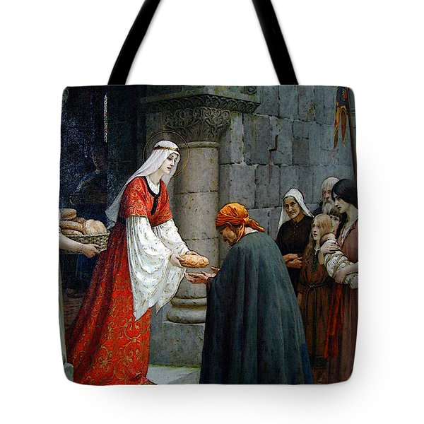 Leighton Edward Blair Charity Of St Elizabeth Of Hungary Tote Bag