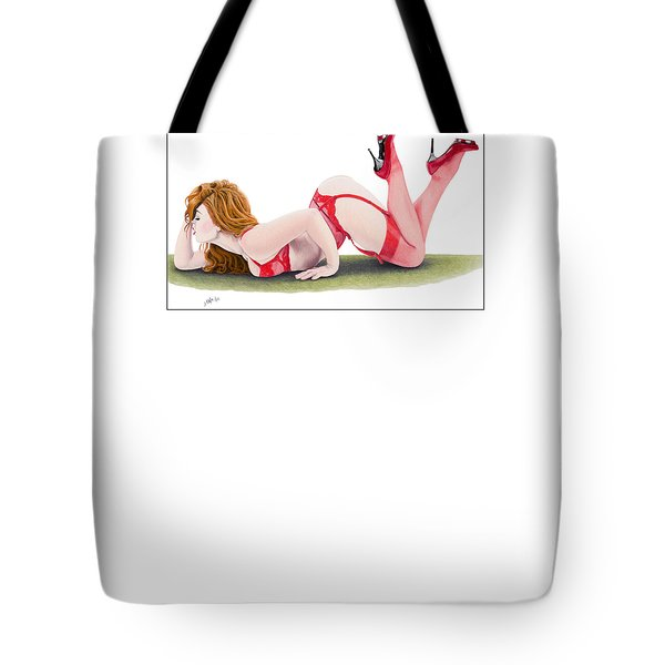 Tote Bag featuring the pastel Leila by Joseph Ogle