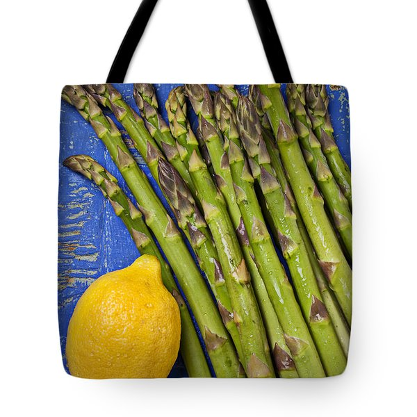Lemon And Asparagus  Tote Bag by Garry Gay