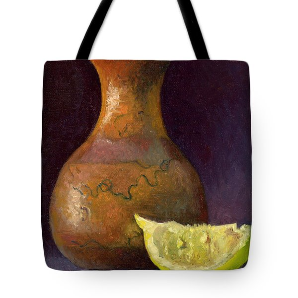 Lemon And Horsehair Vase A First Meeting Tote Bag