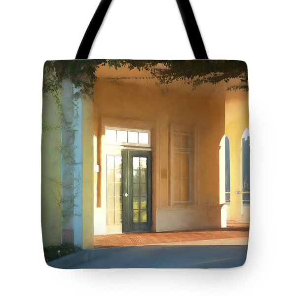 Lemon Arches Tangerine Walls Tote Bag