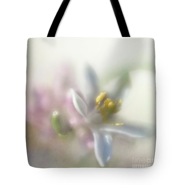 Tote Bag featuring the photograph Lemon Blossom by Elena Nosyreva