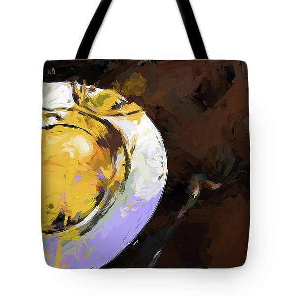 Lemon Bowl Fork Green Tote Bag