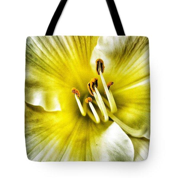 Lemon Cream Daylilly Tote Bag