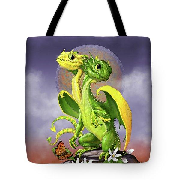 Lemon Lime Dragon Tote Bag by Stanley Morrison