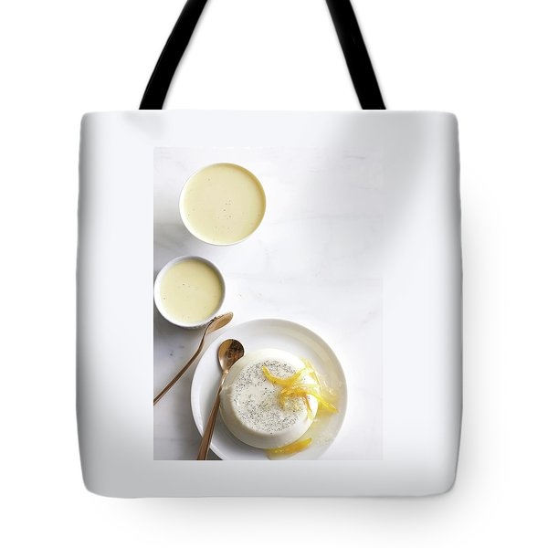 Lemon Panna Cotta Tote Bag
