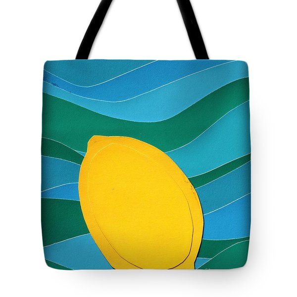 Lemon Slice Tote Bag by Vonda Lawson-Rosa