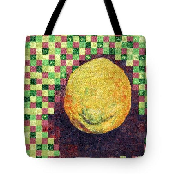 Lemon Squares Tote Bag by Shawna Rowe