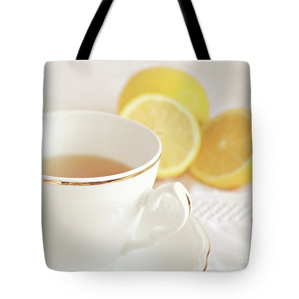 Tote Bag featuring the photograph Lemon Tea by Lyn Randle