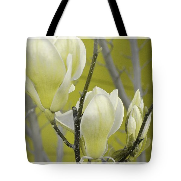 Tote Bag featuring the photograph Lemon Yellow by Athala Carole Bruckner