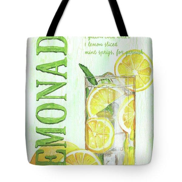Tote Bag featuring the painting Lemonade by Debbie DeWitt