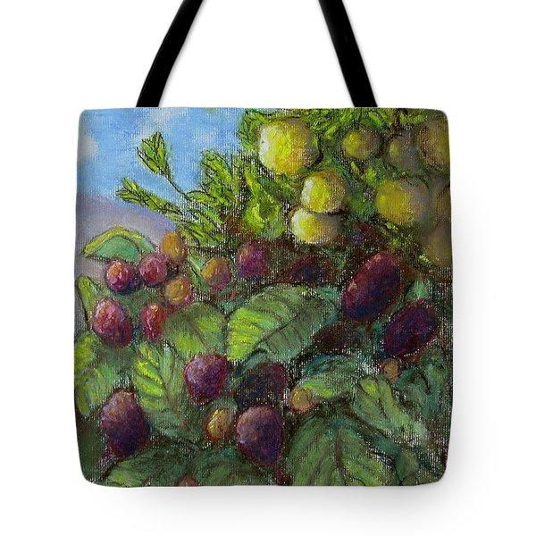 Lemons And Berries Tote Bag