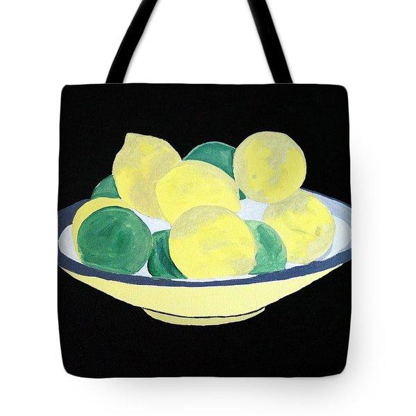 Lemons And Limes In Bowl Tote Bag