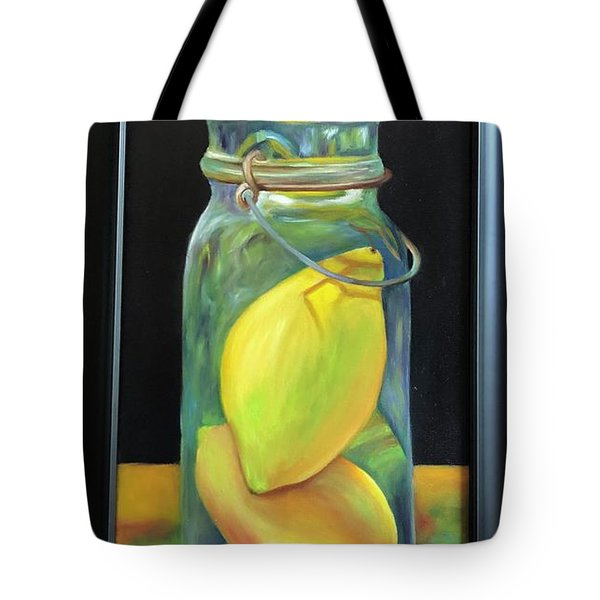 Lemons In Jar.  Sold Tote Bag