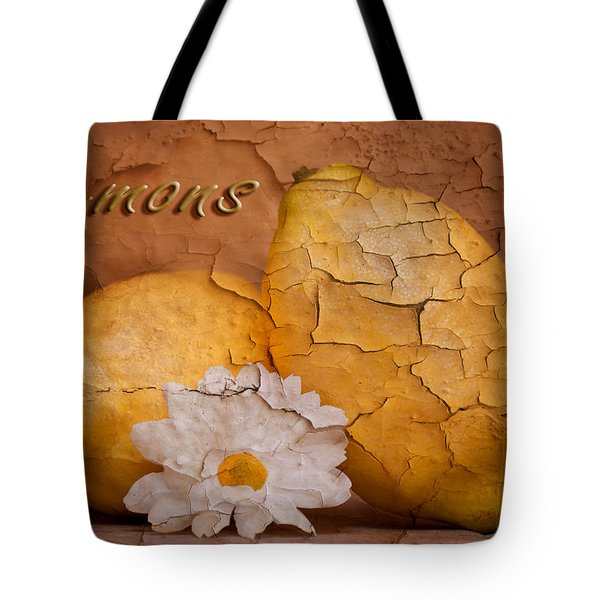 Lemons With Daisy Tote Bag