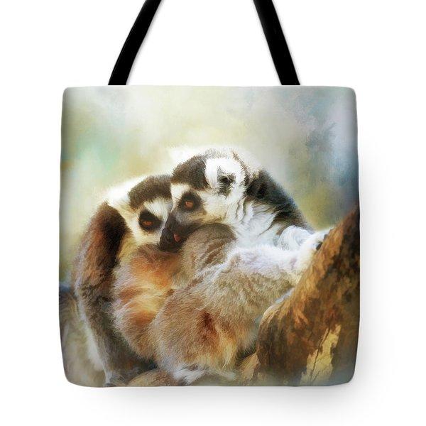 Lemur Cuddle Tote Bag
