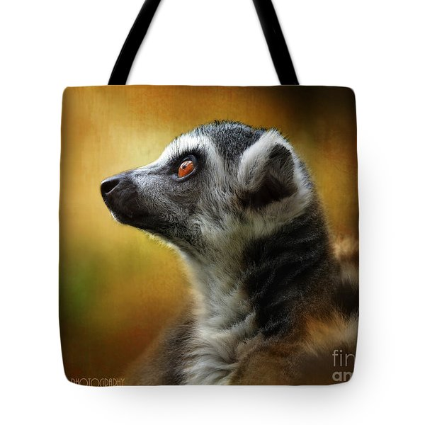 Lemur Tote Bag by Kathy Russell