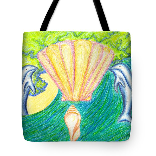 Tote Bag featuring the drawing Lemuria Atlantis by Kim Sy Ok