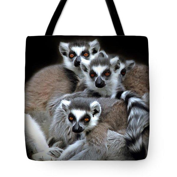 Lemurs Tote Bag by Marion Johnson