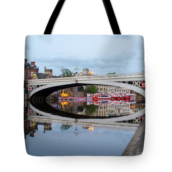 Lendal Bridge Reflection  Tote Bag